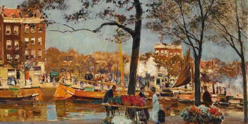 Heinrich-Hermanns-The-Flower-Market-Amsterdam