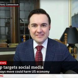 Edward Stringham on BBC News talking about Trump targeting Social Media