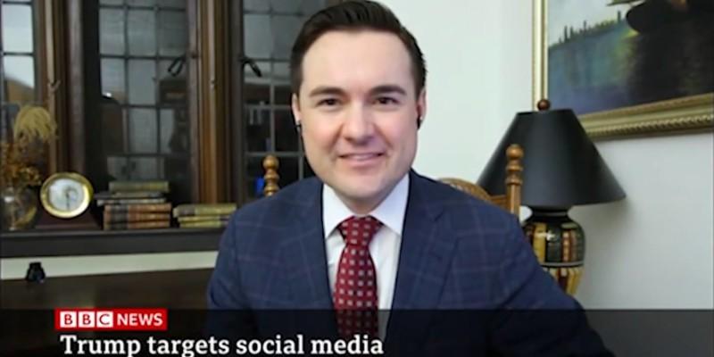 Edward Stringham on BBC News talking about Trump targeting Social Media