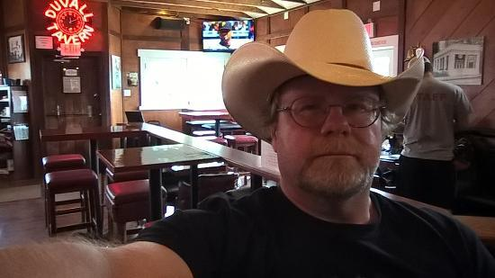 happy cowboy hat, bar