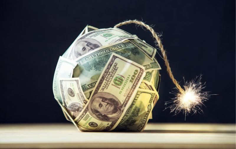 money, bomb, spark