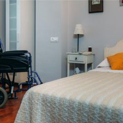 nursing home, bed, wheelchair