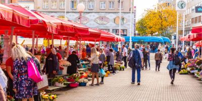 outdoor market, croatia