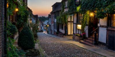 europe, streets, night