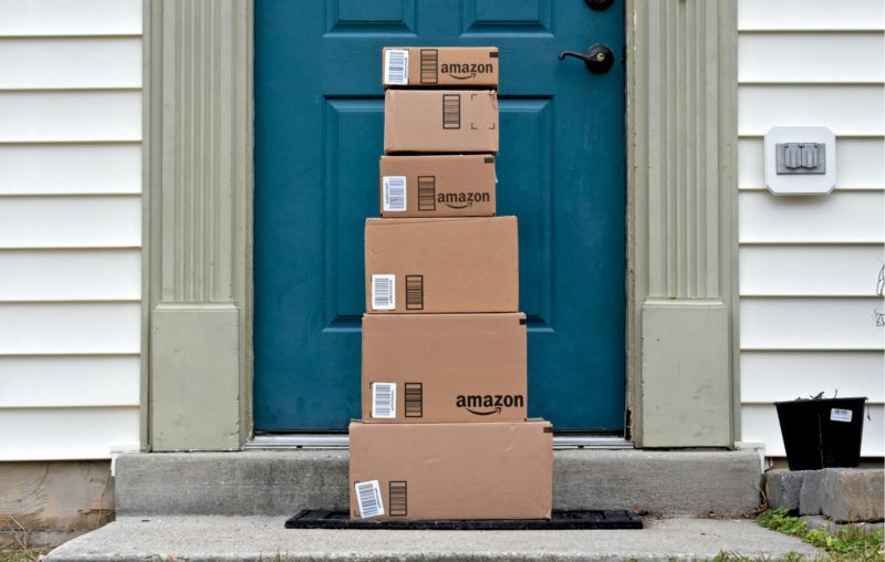 amazon delivery packages