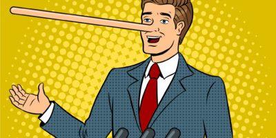 politician lying