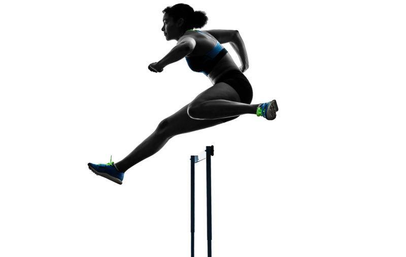 runner, jumping