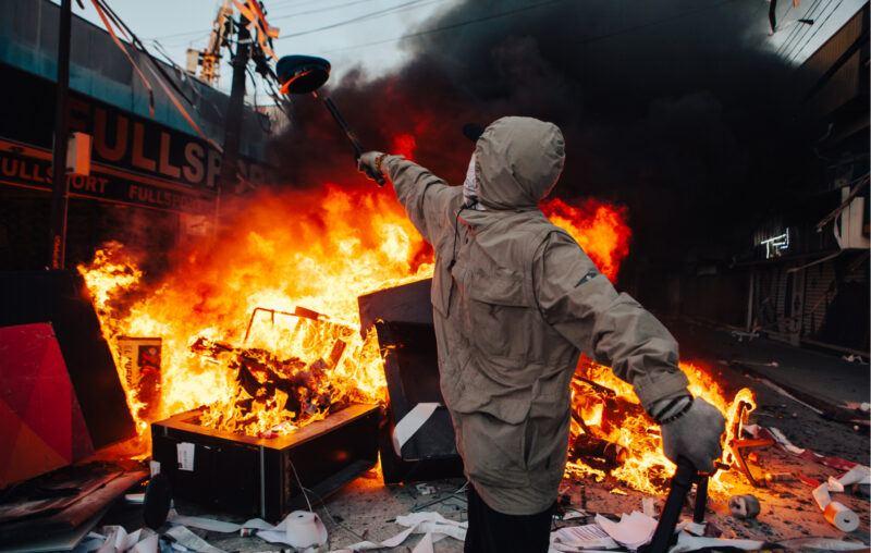 Looting Rioting