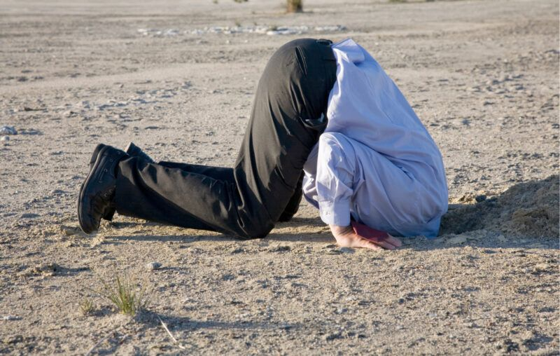 denialism, head in the sand