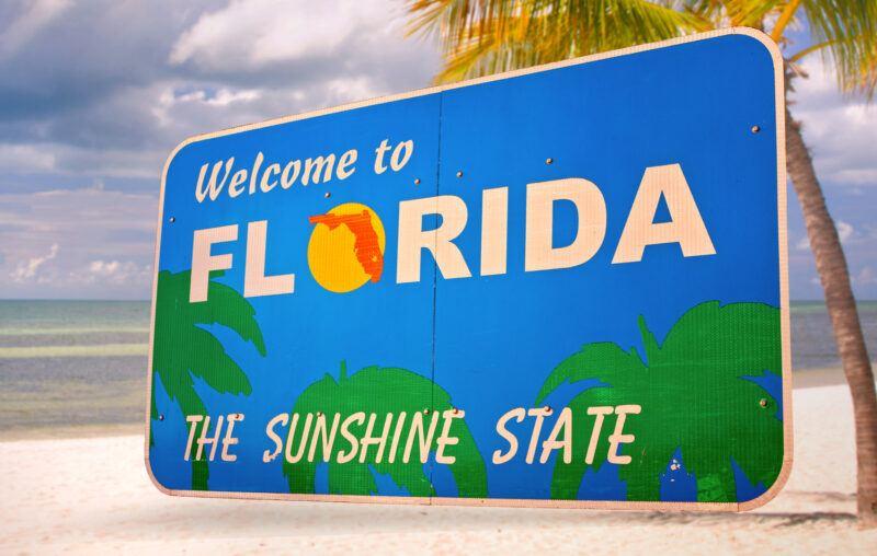 California and Florida Covid rates similar