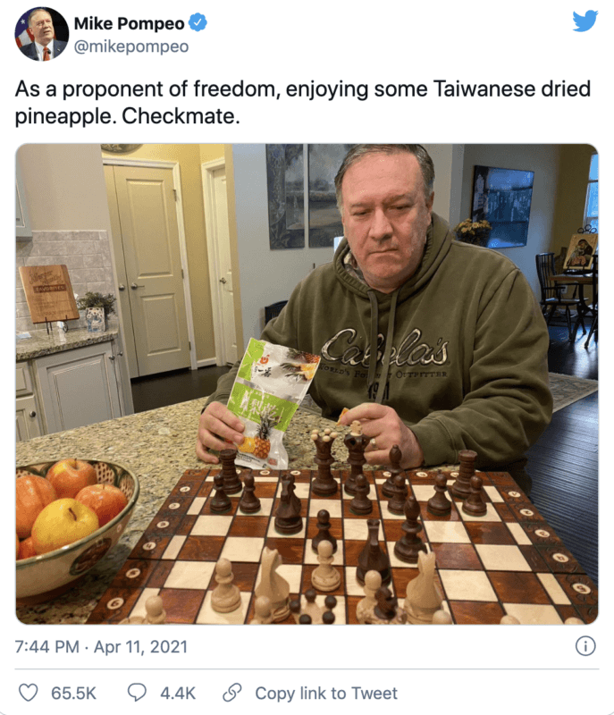 mike pompeo chinese pineapples