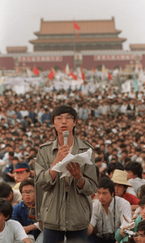 wang dan calls for human rights in China